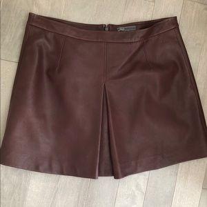 Vince leather skirt sz L